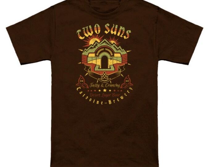 TWO SUNS BEER T-Shirt Star Wars Jawa Tattooine Brewery Sci Fi Nerd Geek Shirt A New Hope Anakin Luke Skywalker The Phantom Menace