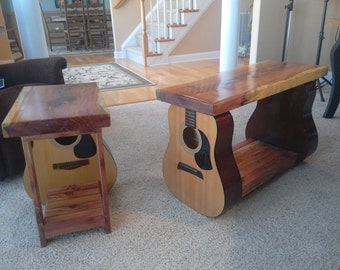 Guitar Table Combo - coffee and end table