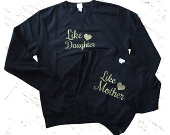 Like Mother Like Daughter Black Jumper Set