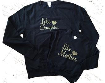 Like Mother Like Daughter Black Jumper Set