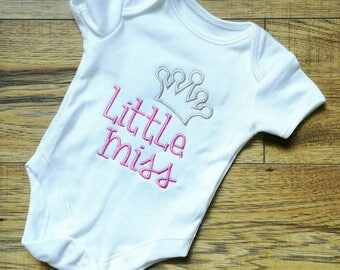 Little miss vest, little sister, new Sister, sibling top, sisters, new baby gift