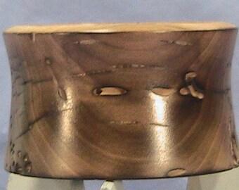 Burnt Poplar candle holder.