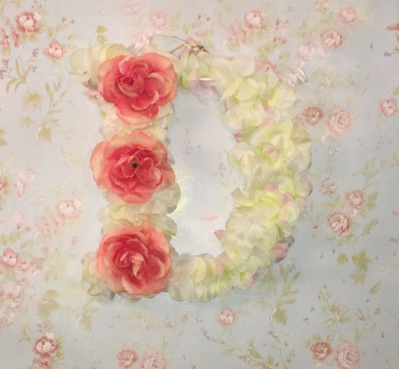Shop Floral Monograms At Littlebrownnest Etsy Com: Floral Monogram Letter D