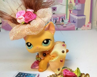 Littlest Pet Shop LPS Custom Accessories Clothes Outfit lot * Cat not included