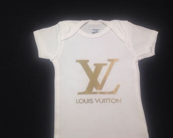 Louis  Vuitton Baby Onesies for boy or girl Cute Customized Personalized Funny Unique Baby Shower Gift