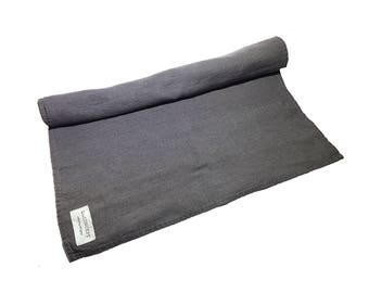 LINEN TABLE RUNNER stone washed and softened from modern art collection. Made by LinCONCEPT