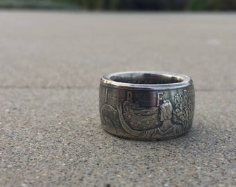 American silver eagle coin ring
