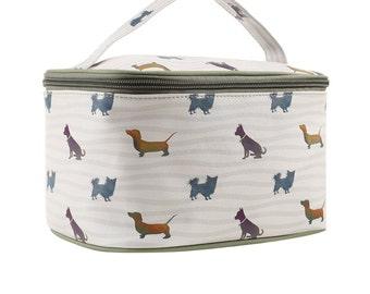 TaylorHe Vanity Bag Make-up Bag Toiletry Bag With Handle A Dogs Life.