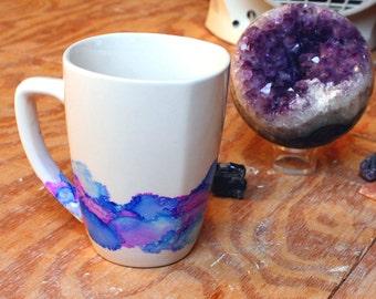 Cute Hand Painted Mug unique pretty gift
