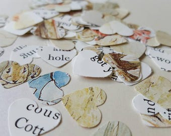 Beatrix Potter table confetti- baby shower decorations