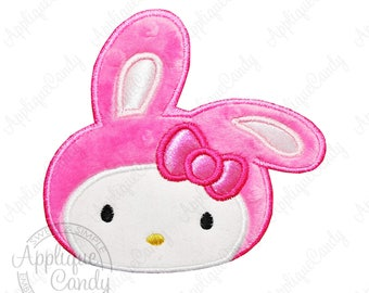 Kitty cat applique machine embroidery design from