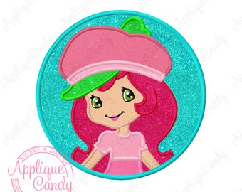 Strawberry Shortcake Embroidery Applique Design X