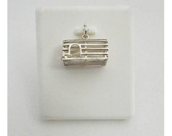 Sterling Silver Lobster Trap Charm