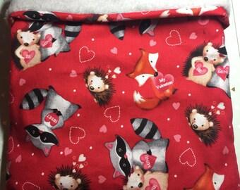 Snuggle Sack Be my valentine pet bed pet blanket snuggle sack cozy cuddle cuddle bag bonding bag cuddle cup pet gift Hedgehog chinchilla rat