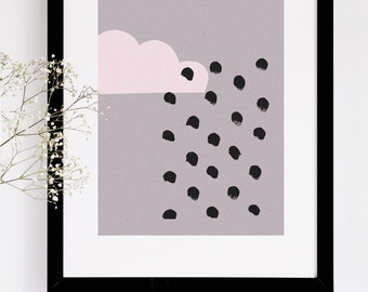 Illustrated Nursery Art Print - Cloud no. 1