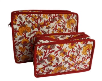 Unisex wood block travel bags from India