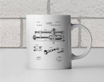 Thomas Edison Phonograph Patent Art Mug Gift, Edison Mug, Phonograph Mug, Gramophone, Gramophone Patent, DJ gift, Record Player