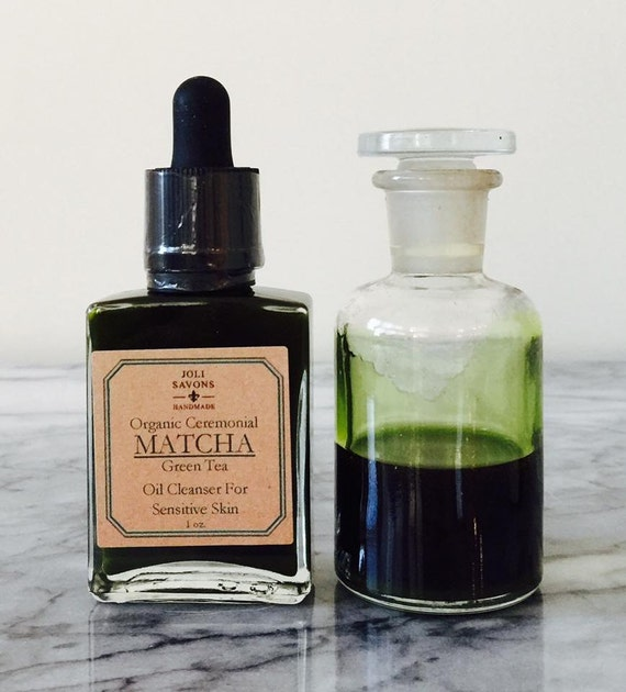 Organic Ceremonial MATCHA Green Tea Oil Cleanser for Sensitive Skin (Vegan)