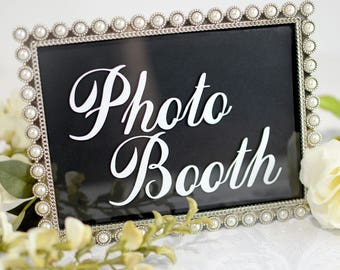 Photo booth sign, Wedding DIY, Photo booth wedding, Wedding sign decals, Wedding decals, Elegant wedding decor, Photo booth props