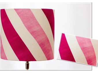 Lampshade -pink Stripes-