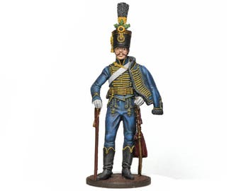 Tin Soldier - Austrian Hussar, Napoleonic Wars, Historical Miniature, Military Miniature, Pewter Soldier, Austrian Soldier, 54 mm,