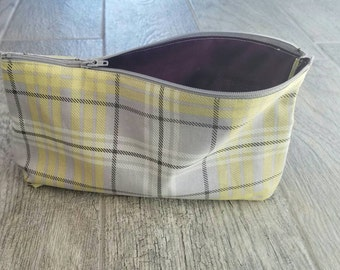 Makeup bag, jewlery bag, cosmetic pouch, clutch, tote with zipper, luggage insert