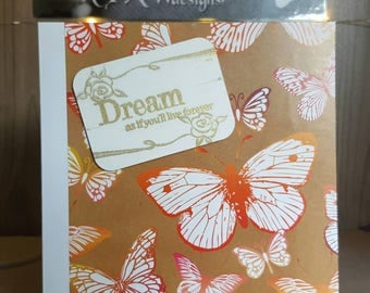 Butterfly dream blank greetings card