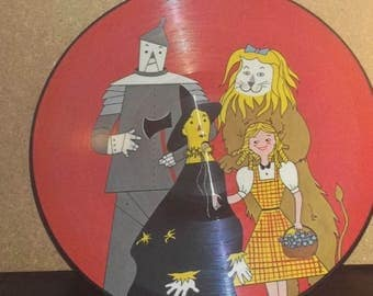 Wizard Of Oz And Pinocchio Picture Disc Record Judy Garland Victor Young Orchestra
