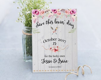 Save the date, Wedding announcement, save the date template, Costum wedding save the date announcement,Printable wedding save the date card
