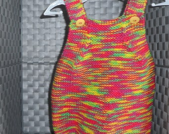 Romper Suit - Multi-Coloured - 0-3 Months - Hand Knitted