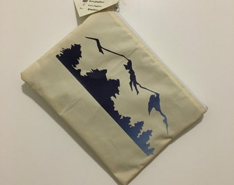 Mountain Silhouette Makeup Bag, Cosmetic Bag, Toiletry Bag