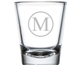Circle Initial 2 oz Shot Glass (SGH5057-AB119)