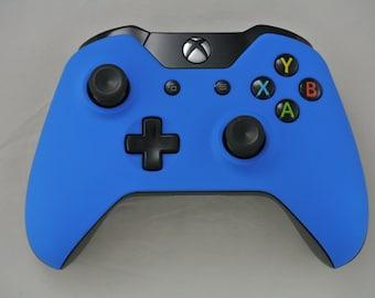 Microsoft Xbox One Wireless Controller Custom Soft Touch Blue