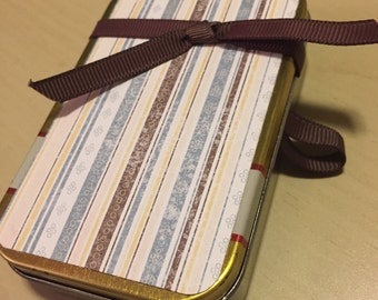 Altoid tin memento box