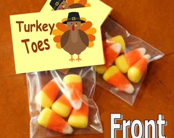 Turkey toes - bag toppers