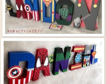 Super Heroes letters- Marvels- DC- Super Hero Party- Super Hero Room