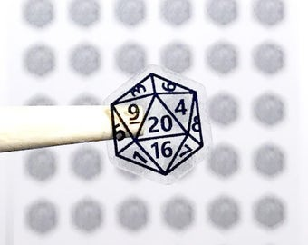 Clear DnD Dice Stickers, Transparent Stickers, Dungeons and Dragons Stickers, DnD Stickers, Roleplaying Stickers, D20, Geeky Stickers, I088