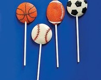 Sports Theme Chocolate Lollipops