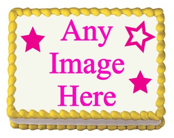 Edible Image on Cake, Cupcakes, or Cookie Toppers