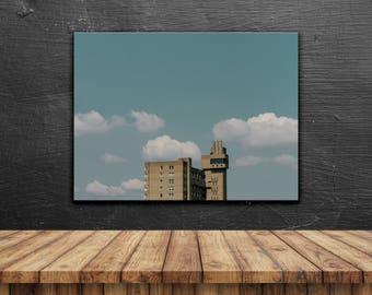 Minimal Brutalism // Poster, Photography, London, Architecture, Skyline, Pastel, Print, Wall Decor, Home Decor, Cityscape, Unique, Gift