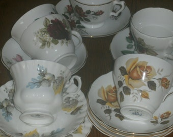 Cups and saucers - Vintage Cups and Saucers - Tea cups and Saucers - Vintage Cups and Saucers