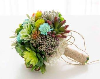 Wedding bouquet, succulent bouquet, Wedding flowers, Bridal bouquet, Bridal flowers, Bouquet, Forest style