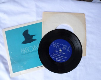 """FREE SHIPPING in USA Vintage Eastern Airlines """"AirBorneThe New Theme Music of Eastern"""" 33 1/3RPM Vinyl Record  Eastern Airlines Memorabilia"""