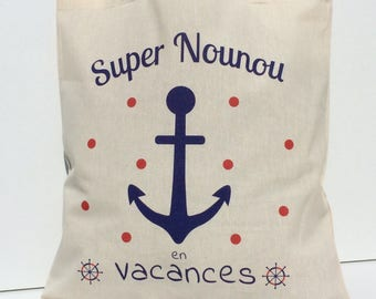 Tote bag great nanny