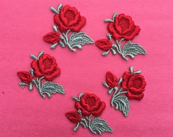 Vintage Rose sew on patch (5 pieces)