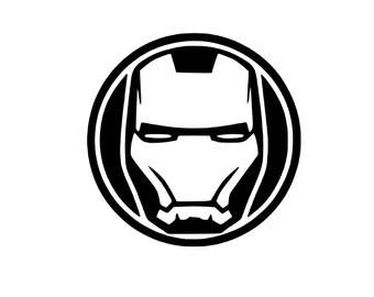 Iron Man Mask Decal Etsy