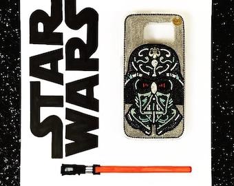 Star Wars phone case black iPhone 7/7plus case, iPhone 6/6S/6plus/6Splus case, iPhone 5/5S/5C/SE case, iPhone 4/4S case handmade Darth Vader