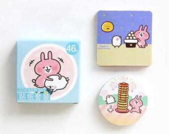 Kanahei cute kawaii cartoon animal rabbit bunny chick box of stickers