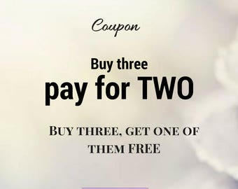 COUPON - Buy three, pay for two