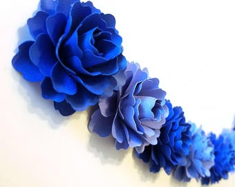 Paper Flower Garland | Blue